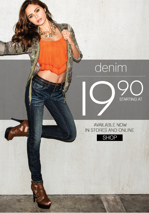 Amazing Denim Deals from $19.90! Shop Body Central's NEW Denim Collection. In Stores & Online.