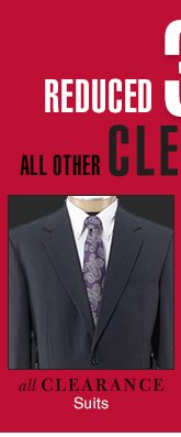 Clearance Suits - Reduced 30%