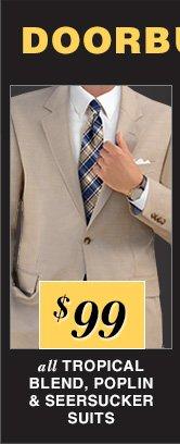 $99 USD - Tropical Blend, Poplin & Seersucker Suits