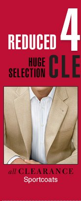 Clearance Sportcoats - Reduced 40% or more