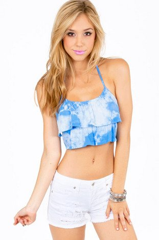 HIGH AND DYE CROP TOP 25