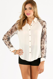 FLORAL BLOCKED BLOUSE 33
