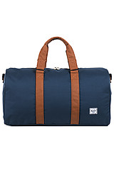 The Ravine Duffle Bag in Navy & Tan