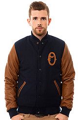 The O Varsity Jacket in Navy