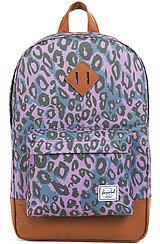 The Heritage Mid Volume Backpack in Purple Leopard
