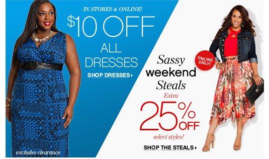 $10 OFF Dress & Weekend Steals!