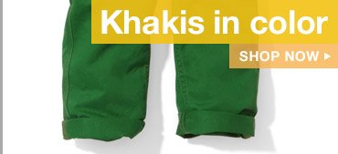 Khakis in color | SHOP NOW
