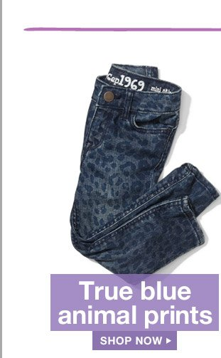 True blue animal prints | SHOP NOW
