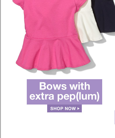 Bows with extra pep(lum) | SHOP NOW