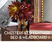 CHESTERFIELD LEATHER BED & HEADBOARD
