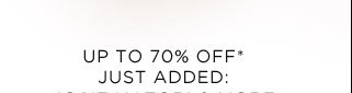 Up To 70% Off* Just Added: Josie Natori & More