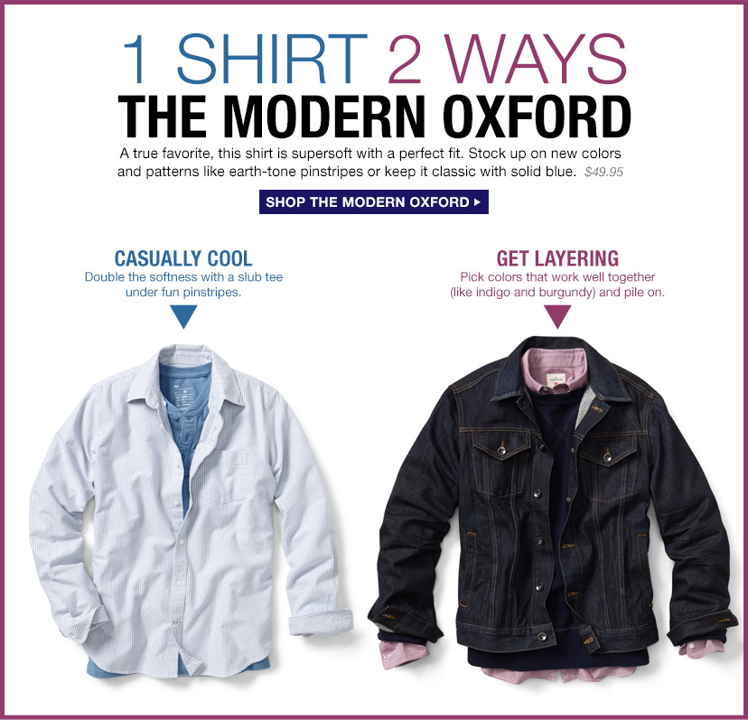 1 SHIRT 2 WAYS | THE MODERN OXFORD | SHOP THE MODERN OXFORD