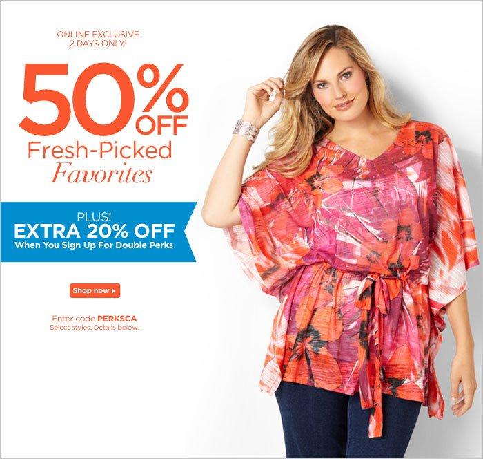 50% Off Fresh-Picked Favorites