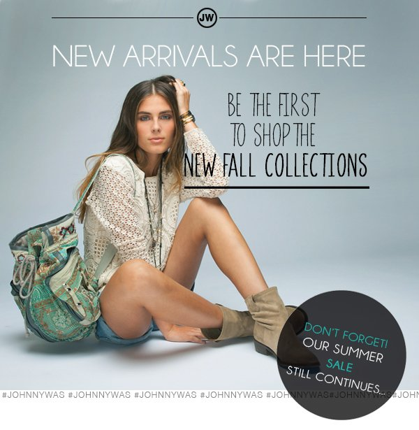 New arrivals are here.  Be the first to shop.