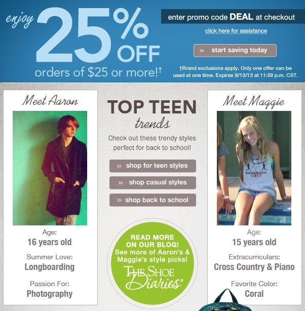 Top Teen Trends + 25% Off!