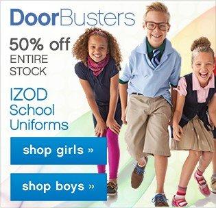DoorBusters School Uniforms.