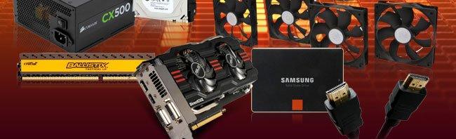 Fan, Memory, VGA, SSD, Cable