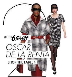 OSCAR DE LA RENTA UP TO 65% OFF