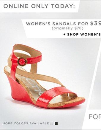 WOMEN'S SANDALS FOR $39 + SHOP WOMEN'S