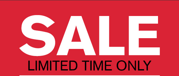 SALE - LIMITED TIME ONLY