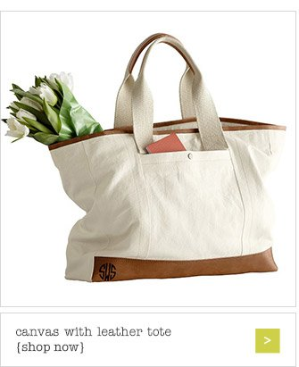 canvas with leather tote {shop now}
