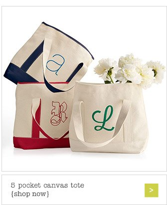 5 pocket canvas tote {shop now}