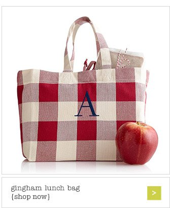 gingham lunch bag {shop now}