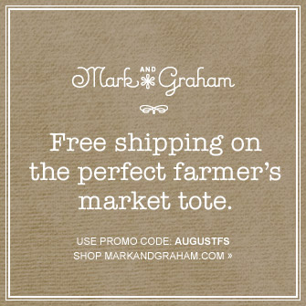 Mark AND Graham -- Free shipping on the perfect farmer's market tote. -- USE PROMO CODE: AUGUSTFS -- SHOP MARKANDGRAHAM.COM