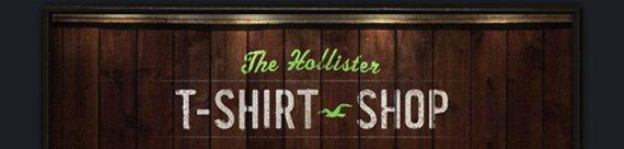 THE HOLLISTER T–SHIRT  SHOP