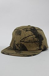 Buzzard 6 Panel Hat in Olive