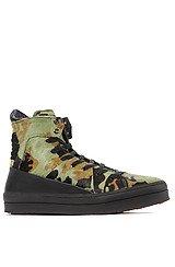 Grid Sneaker in Green Camo