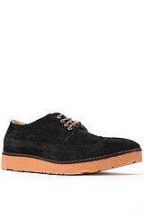 Teddy Shoe in Black WF Suede