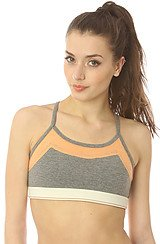 Stretch It Out Bra Top in Eco Grey & Melon