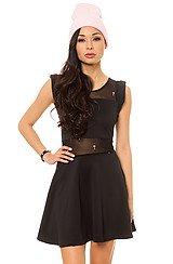 Sheer Cross Dress in Black
