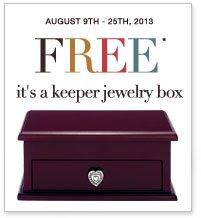 Free It's A Keeper Jewelry Box