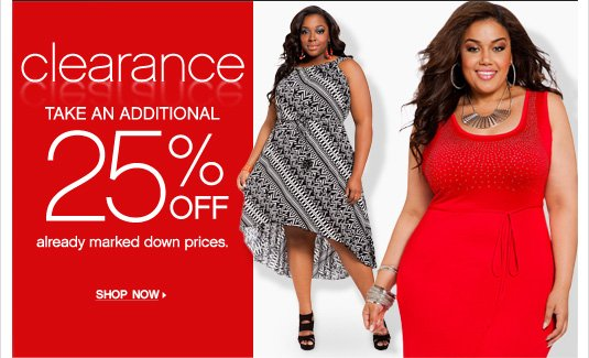 Clearance: Take an additional 25% OFF already marked down prices