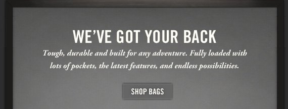 WE'VE GOT YOUR  BACK SHOP BAGS
