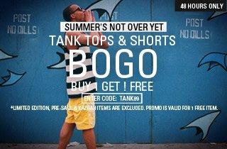 Tanks & Shorts: Buy 1, Get 1 Free