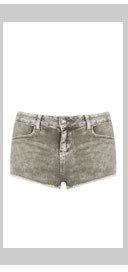 MOTO Dark Khaki Denim Hotpants