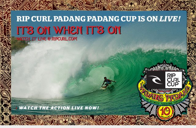 The Rip Curl Cup is on LIVE! It's on When its On - Watch Live -