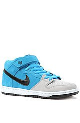 Dunk Mid Pro SB in Black Hero, Blue & Wolf Grey
