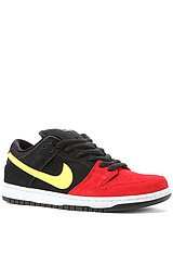 Dunk Low Pro SB in Black, Sonic Yellow and Red