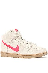 Nike Dunk High Pro SB in Birch and Hyper Red