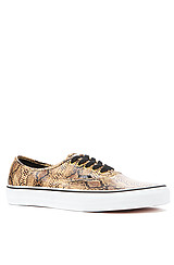 Authentic Sneaker in Gold Snake