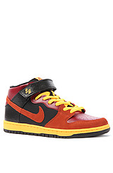 Dunk Mid Pro in Red, Orange, and Black