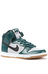 Nike Dunk High Pro SB in Dark Atomic Teal and Black-Wolf Grey