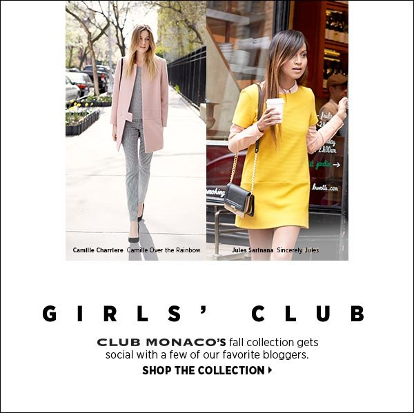 Classics with a cool factor are Club Monaco's calling card. Smart shirtdresses, trenches, cardigans, crewnecks, and flirty skirts are destined to become fall's Most Valuable Pieces. >>