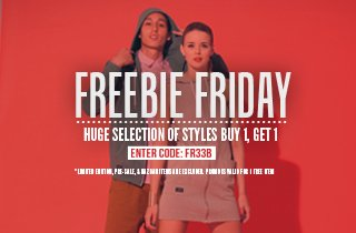 Freebie Friday Buy 1, Get 1 Free