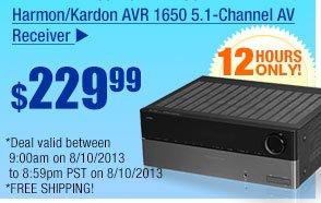 $229.99 -- Harmon/Kardon AVR 1650 5.1-Channel AV Receiver