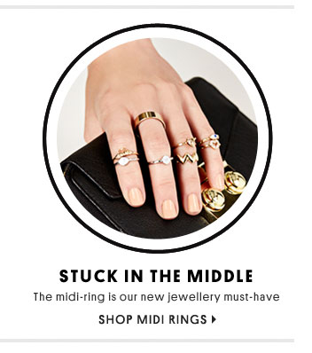 Stuck in the middle - Shop midi rings